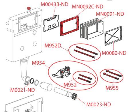ALCAPLAST MN0091 puszka montażowa do spłuczki podtynkowej