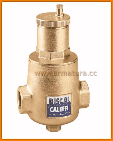 """DISCAL Separator powietrza 1"""" z gwintem wewnętrznym z odwodnieniem 551006 Caleffi"""