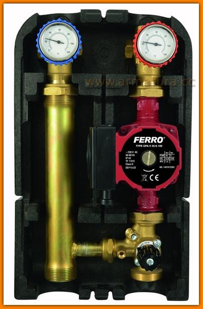 GMP602GPA FERRO Grupa mieszająca do instalacji niskotemperaturowych