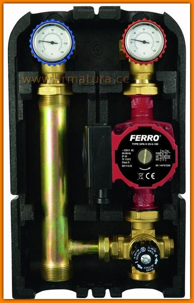 Grupa mieszająca termostatyczna do instalacji niskotemperaturowych GMPT60GPA FERRO